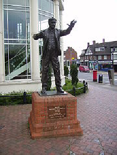 A statue of Ralph Vaughan Williams in Dorking