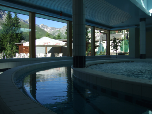 The whirlpool and the 'fast lane' at Hotel Altein